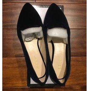 NEW Nine West Navy Velvet Loafers